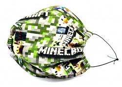 Jersey Stoffmaske Minecraft Map Facie 1-lagig mit Nasenbügel-Option & Größenwahl