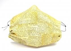 Leichte Stoffmaske mit Motiv Zeitung Facie 1-lagig mit Nasenbügel-Option & Größenwahl