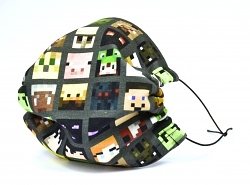 Jersey Stoffmaske Minecraft Mobs & Co. Facie 1-lagig mit Nasenbügel-Option & Größenwahl
