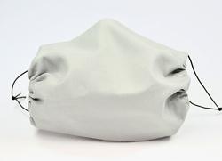 Leichte Stoffmaske Uni hellgrau Facie 1-lagig mit Nasenbügel-Option & Größenwahl