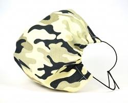 Leichte Stoffmaske Camouflage Facie 1-lagig mit Nasenbügel-Option & Größenwahl