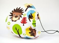 Leichte Stoffmaske Igel & Bäume Facie 1-lagig mit Nasenbügel-Option & Größenwahl