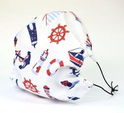 Leichte Stoffmaske Maritim Facie 1-lagig mit Nasenbügel-Option & Größenwahl