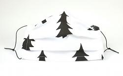 Stoffmaske gefaltet Xmas Tannenbaum 1-lagig mit Nasenbügel-Option & Größenwahl