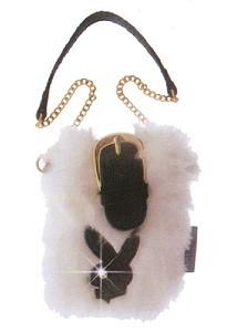 Playboy Bunny Tasche Plüsch weiß