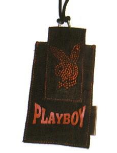 Playboy Handytasche Strass Bunny schwarz
