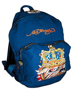 Ed Hardy Rucksack Custom Made blau