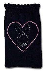 Playboy Handysocke Strass Herz & Bunny