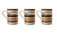 Silly Gifts Kaffeetasse Mocca braun 3er Set