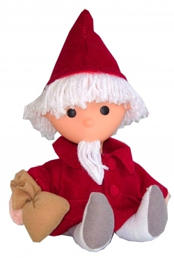Puppe Sandmann-Figur rot 25cm