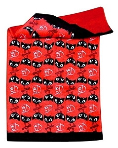 Pussy Deluxe Handtuch rot 50x100cm