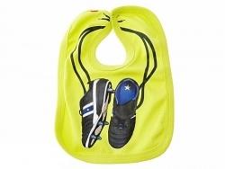 JIP Baby-Lätzchen Fußballer gelb