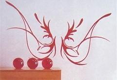 Wandtattoo Engelsflügel rot
