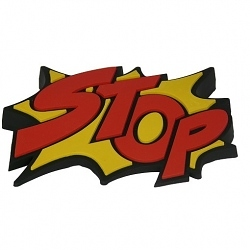 Türstopper Stop rot