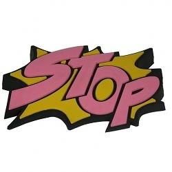Türstopper Stop rosa