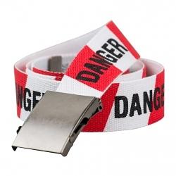 Wanted Stoffgürtel Danger rot/weiß