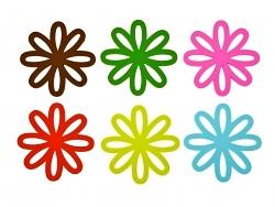 Presenttime Glas-Untersetzer Daisy Flower 6er