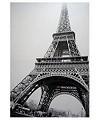 Wandbild Eifelturm schwarz/weiß 70x100cm