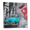Wandbild Retro Oldtimer blau 50x50cm