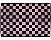 Checker Badvorleger Zielflagge schwarz/rosa