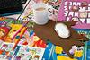 Wanted Mousepad Kaffeefleck braun inkl. Tasse