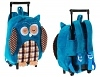 Rucksack-Trolley Eule blau 2 in 1