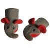 Kinder-Waschlappen Elefant grau/rot