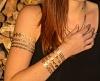 Flash Tattoo Classic gold/silber 9-teilig