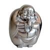 XL Buddha Spardose silber