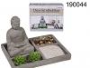 Dekoratives Kerzenset Buddha grau