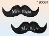 XL Kissen Mr. Right & Mrs. Right Schnurrbart