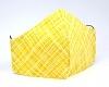 Stoffmaske Streifen gelb mit mit Filterfach-Option und verstellbaren Gummibändern