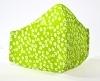 Baumwollmaske Blumen grün mit Einlagefach-Option und verstellbaren Gummibändern