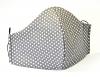 Baumwollmaske Mini-Sterne grau mit Einlagefach-Option und Größenwahl