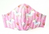 Kinder-Stoffmaske Einhorn pink mit verstellbaren Gummibändern