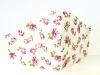 Baumwollmaske Roses weiß mit Einlagefach-Option und verstellbaren Gummibändern