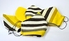 Baumwollmaske Streifen gelb verstellbaren Gummibändern und Größenwahl