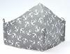 Baumwollmaske Anker Allover grau mit Größenwahl und Filterfach-Option