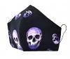Jersey-Baumwoll-Maske 3D-Skull mit Größenwahl und Filterfach-Option
