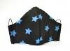 Ergonomische Textilmaske Sterne blau mit Größenwahl