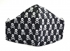 Stoffmaske Mini-Skulls schwarz mit Filterfach-Option und Größenwahl