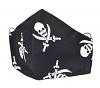 Stoffmaske Totenkopf-Pirat schwarz mit Einlagefach-Option und Größenwahl