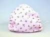 Leichte Stoffmaske Schmetterlinge rosa Facie 1-lagig mit Nasenbügel-Option & Größenwahl