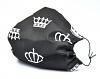 Leichte Stoffmaske Crowns schwarz Facie 1-lagig mit Nasenbügel-Option & Größenwahl