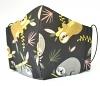 Kinder-Stoffmaske Faultiere dunkelbraun mit verstellbaren Gummibändern