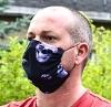 Jersey Stoffmaske 3D Skull Facie 1-lagig mit Nasenbügel-Option & Größenwahl