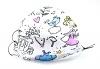 Leichte Stoffmaske Märchenwelt zum Selbstgestalten Facie 1-lagig mit Nasenbügel-Option