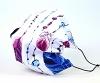 Leichte Stoffmaske Federn blau & pink Facie 1-lagig mit Nasenbügel-Option & Größenwahl