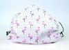 Leichte Stoffmaske Flamingo weiß Facie 1-lagig mit Nasenbügel-Option & Größenwahl