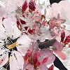 Silly Gifts Wandbild Flowers pink/schwarz
